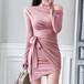 【ワンピース】魅力ファッション無地セクシーワンピース17276537