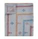 一点もの カンタ刺繍 (インド ラリーキルト) ホワイト クイーンサイズ ベッドカバー / ラグ