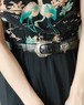 black heart concho leather belt