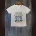 77.Tシャツ(子供100/120/140)海風なびくハイビスカス