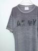 """1990's U.S.ARMY """"PFU""""Tシャツ バーンアウト 霜降りグレー 表記(M) アメリカ軍"""