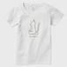 まいんどふるねこ 横向き 色なし レディースTシャツ 白