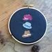 jumelle 帽子の刺繍パネル