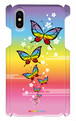 スマホケース iPhoneX用 『蝶(レインボー)』