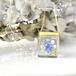 野原のネックレス(青・白)14kgf(無料ギフトラッピング, メッセージカード, 誕生日プレゼント)