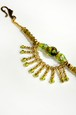 羽織紐 ガラス グリーン