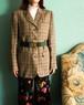 vtg brown checked jacket