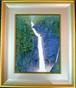 高橋新三郎 日本画 6号 「称名滝」