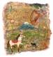 ミニミニ日本画「馬と音楽」