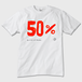 【送料無料】50%T かわいいおもしろTシャツ