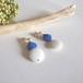 Earring / ブルー×ホワイト
