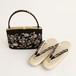 新品◆岡本謹製◆岡重草履バッグ◆黒葡萄◆Lサイズ