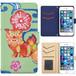 Jenny Desse HUAWEI Y6 ケース 手帳型 カバー スタンド機能 カードホルダー グリーン(ブルーバック)