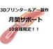 【期間限定】月間サポート 3Dプリンタールアー作成オンライン 10名限定