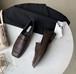 レディース ローファー 革靴 2way スクエアトゥ ローヒール 合皮 革 黒 ブラック 茶 ブラウン 春秋 入学式 卒業式 結婚式 フォーマル 韓国