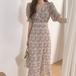 花柄 ワンピース 半袖 ロング丈 フェミニン デート レディース ファッション 韓国 オルチャン
