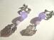 カルセドニー・メタルリーフのイヤリング〈e540〉