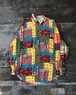 USED / Patchwork pattern rayon shirt
