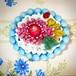 884 お花と蛙とてんとう虫 ブローチ