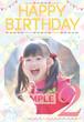 女の子向け誕生日ポスター_3 ガーリー風 B1サイズ