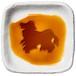 アメリカン・コッカー・スパニエルのシルエットが浮かぶお醤油小皿(四角)