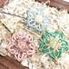 天然石のマクラメ編みヘアピン/桔梗