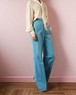 70s denim easy wide pants