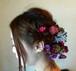 ピンクとパープル小花のヘアーパーツ