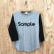 『Sample』  ベースボール 3/4スリーブ TEE ベーシックロゴ