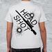 HEAD SHOT SR-Tシャツ~メンズホワイト*Distinclothオリジナル