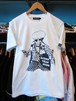 S/STシャツ RUDER THAN RUDE ホワイト NEVERTRUST