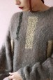 Gray mohair knit