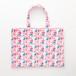 孔雀柄のミニトート(マチなし) Mini tote bag(Peacock pattern)