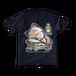 <ネイビーTシャツ 両面>おやすみーちゃん
