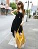 【即納】巻きスカートタイプマキシワンピース全2色●by802a-6740【自社工場】レディース/ドレス