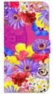 【iPhone6/6s】 Hawaiian Flowers Garden ハワイアンフラワーズガーデン ー Fuchsia Pink フューシャピンク 手帳型スマホケース