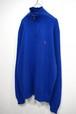 [Ralph Lauren] ハーフジップハイネックコットンニットセーター ブルー 表記(XL)