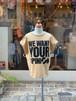 KIDS:GROOVYCOLORS【グルービーカラーズ】天竺WE WANT YOUR OPINION TEE(ベージュ/90〜120cm)Tシャツ