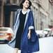 レディース 長袖 大きいサイズ レジャー デニムコート ジャケット Gジャン 2colors ブラック ブルー カジュアル ゆったり アウター 5258
