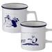 "STAY HOMEマグカップ2個セット【やまもとみくイラスト「ギターを弾く女性」「デスクに向かう女性」】STAY HOME Mug cup set of 2 [Miku Yamamoto illustration ""Woman playing guitar"" ""Woman at the desk""]"