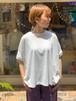 WOMENS:NEEDLEWORKS【ニードルワークス】Deformation T-shirt(ホワイト/S,Mサイズ)Tシャツ