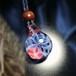 【わけあり試作品】赤いラティチェロフラワーのペンダント20210420-1