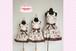 【子供用サイズ】親子コーデエプロン/プリンセスエプロン クローバー ブラウン /日本製のかわいいお姫様エプロン!