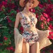 【小物】ファッションプリントハイウェスト花柄プリント2点セット水着21529172