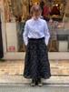 WOMENS:LILOU+LILY【リロアンドリリー】ドットエンブロイダリースカート(ブラック)