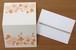 活版お花1色メッセージカード(封筒付)