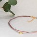 ◍choker necklace(smoky pink)