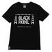 STEEL TOWER TEE (BLACK) / RUDE GALLERY BLACK REBEL