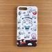 もちくんスマホケース(ブラック/パープル)iphone6/6s/7/8 plus