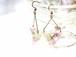 森の花のトライアングル ピアス (鎖のタイプ) (桜の蕾・シラネセンニュウ)・14kgf